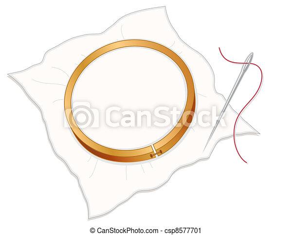 Embroidery Hoop, Needle, Thread - csp8577701