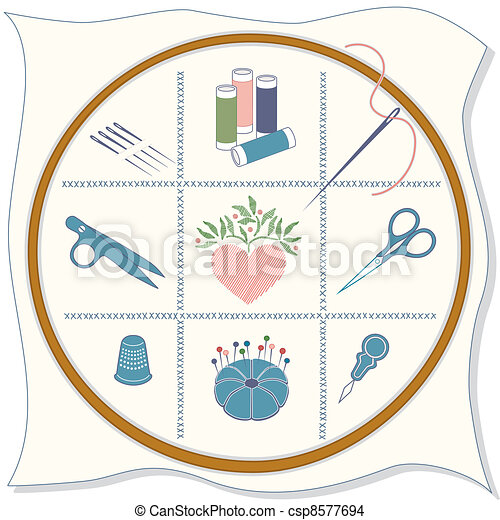 Embroidery Icons - csp8577694