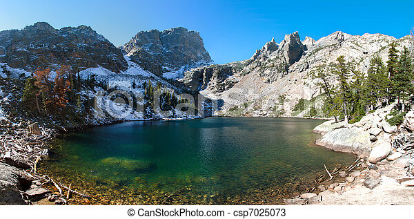 Emerald lake in rocky mountains national park, co - csp7025073