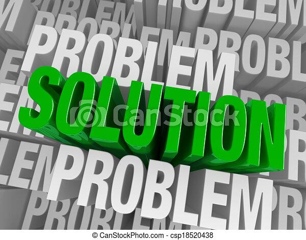 emerge, cercado, solução, problemas - csp18520438