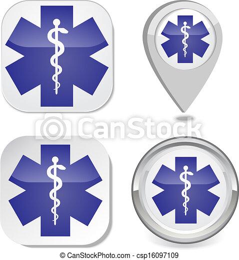Simbolo médico de la emergencia - csp16097109