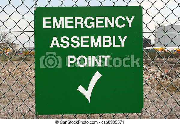 Emergency Assembly Point sign - csp0305571