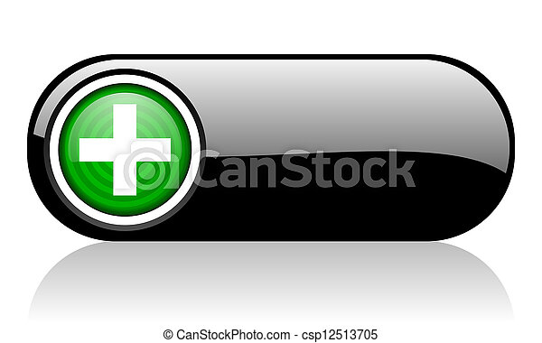 emergency black and green web icon on white background  - csp12513705