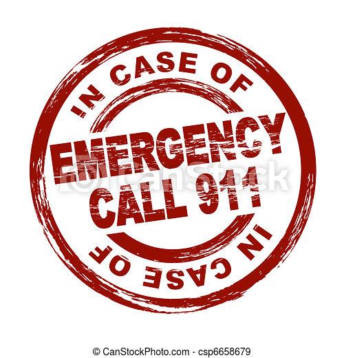 Emergency Call 911 - csp6658679