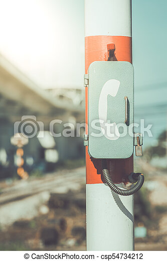 Emergency call at the train station - csp54734212