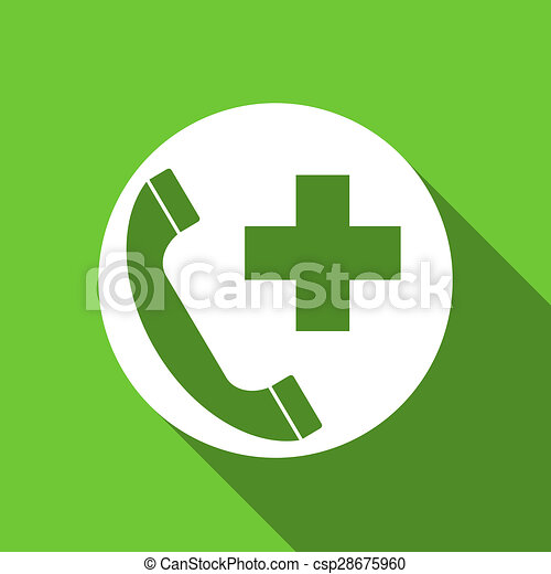 emergency call flat icon  - csp28675960