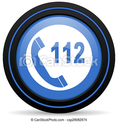 emergency call icon 112 call sign - csp29082974