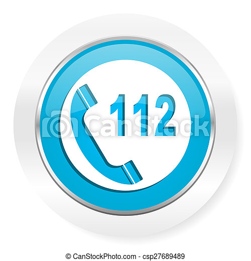 emergency call icon 112 call sign - csp27689489