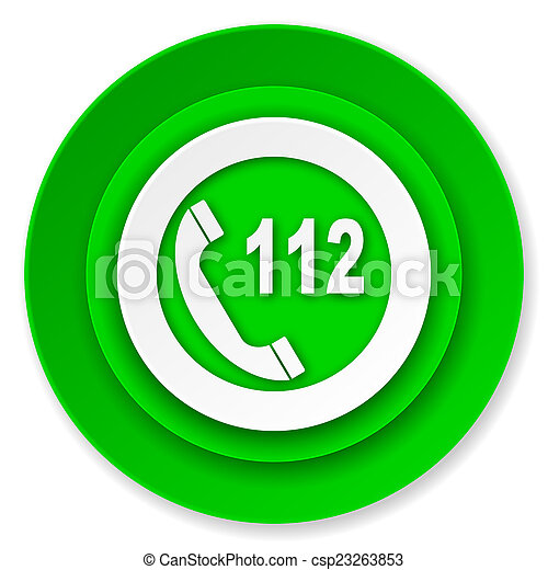 emergency call icon, 112 call sign - csp23263853