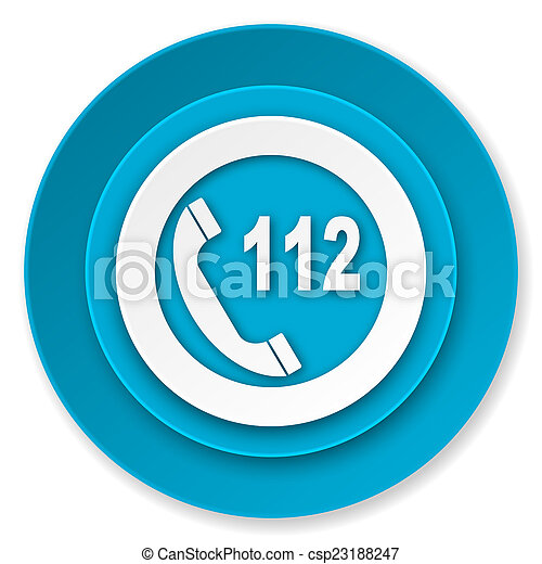 emergency call icon, 112 call sign - csp23188247