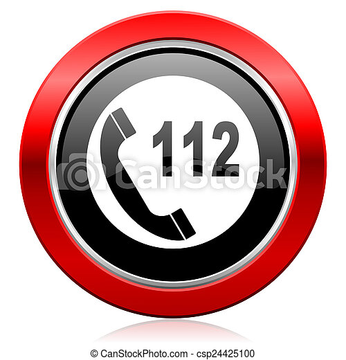 emergency call icon 112 call sign - csp24425100