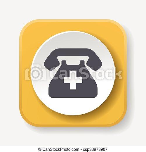 emergency call icon - csp33973987