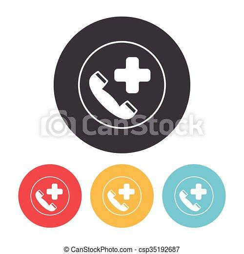 emergency call icon - csp35192687