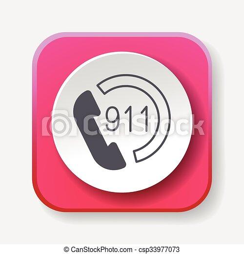 emergency call icon - csp33977073
