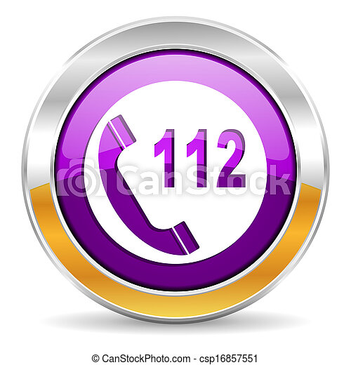 emergency call icon - csp16857551