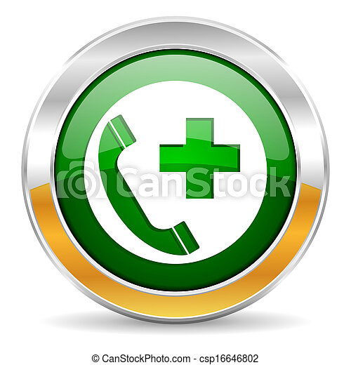 emergency call icon - csp16646802