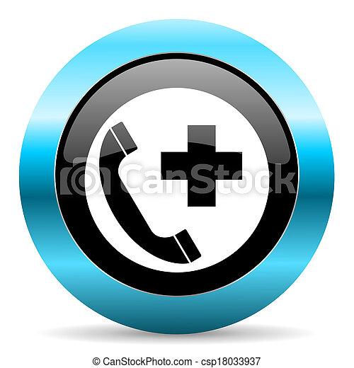 emergency call icon - csp18033937