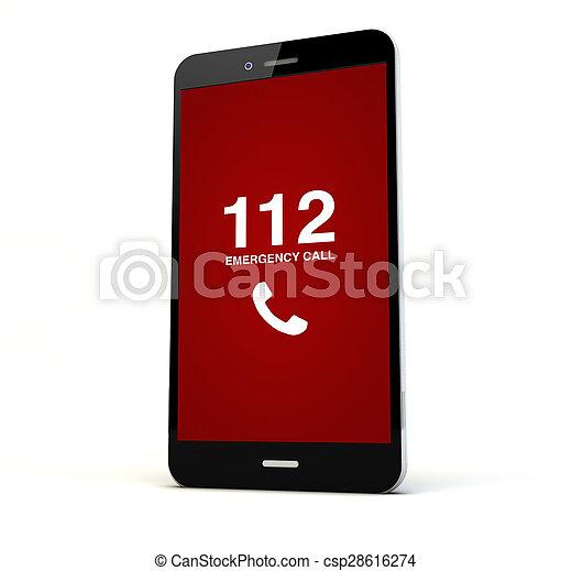 emergency call phone - csp28616274
