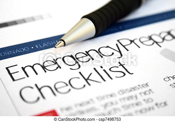 Emergency checklist - csp7498753