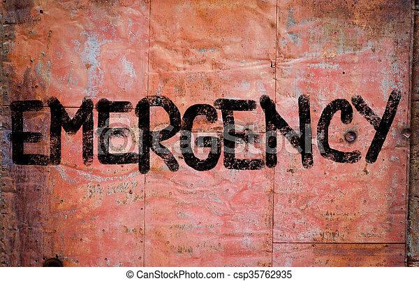 Emergency Concept - csp35762935