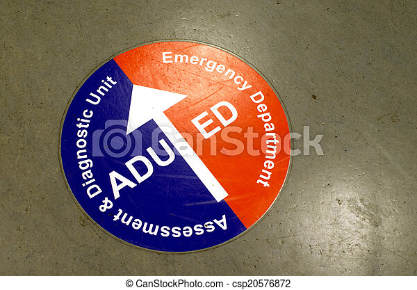 Emergency department sign - csp20576872