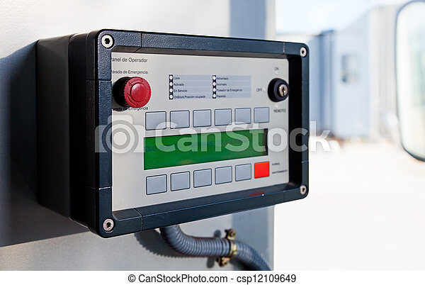Emergency Equipment in an Airport Runway - csp12109649