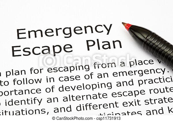 Emergency Escape Plan - csp11731913