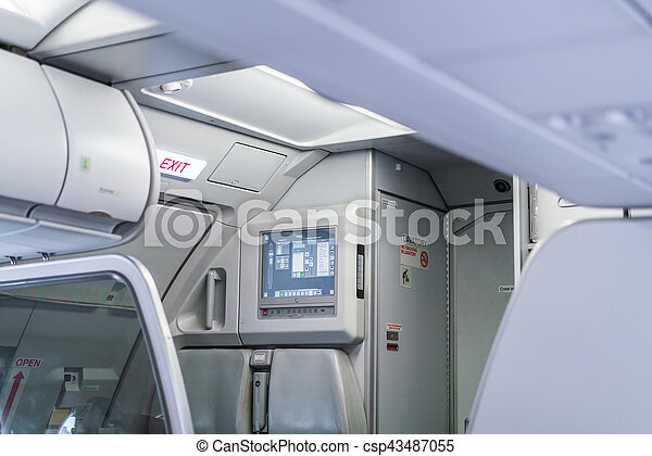Emergency exit in aircraft  . - csp43487055