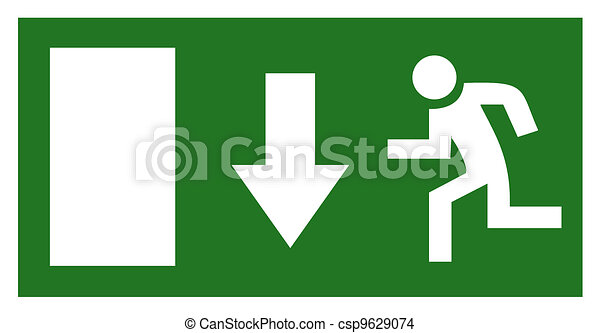 Emergency exit sign - csp9629074