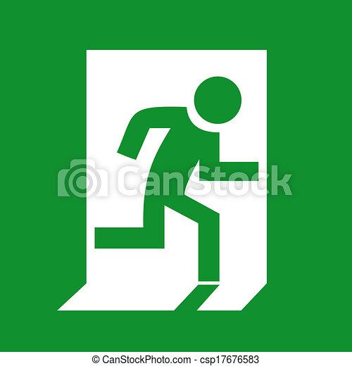 Emergency exit sign - csp17676583