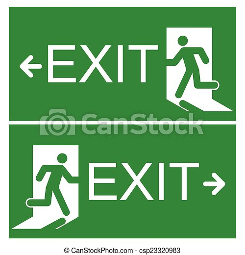 emergency exit sign - csp23320983