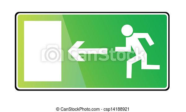 EMERGENCY EXIT SIGN - csp14188921