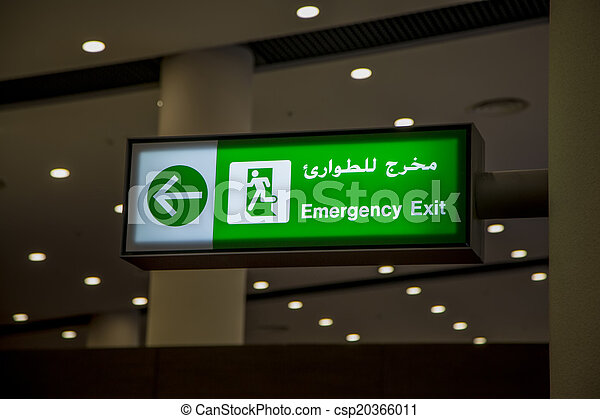 Emergency exit sign - csp20366011