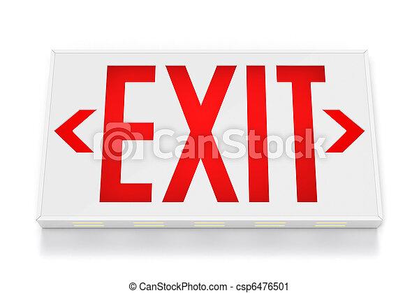 Emergency Exit Sign - csp6476501