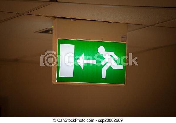 Emergency Exit Sign - csp28882669