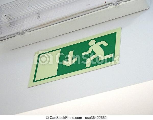 Emergency exit sign - csp36422662