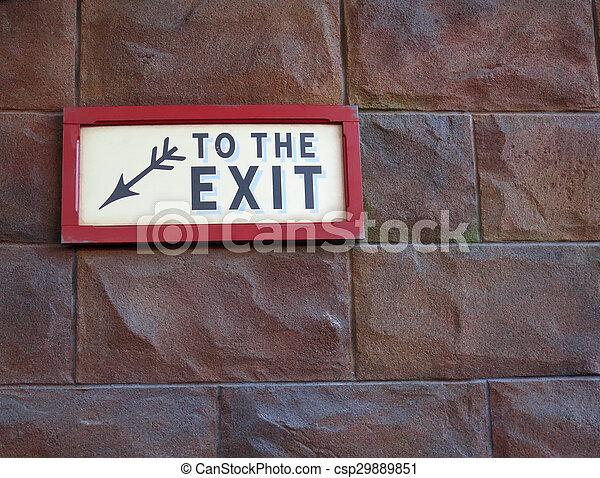 emergency exit sign - csp29889851