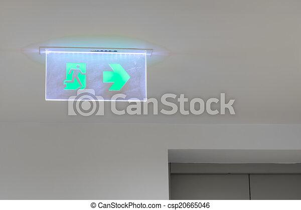 Emergency exit sign - csp20665046