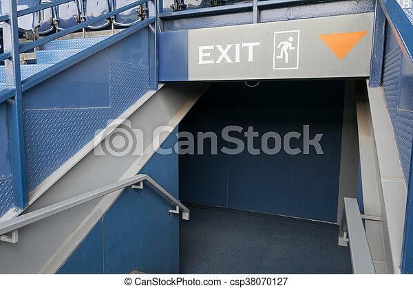 Emergency exit sign - csp38070127