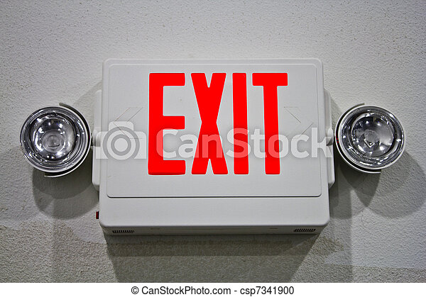 Emergency Exit sign - csp7341900