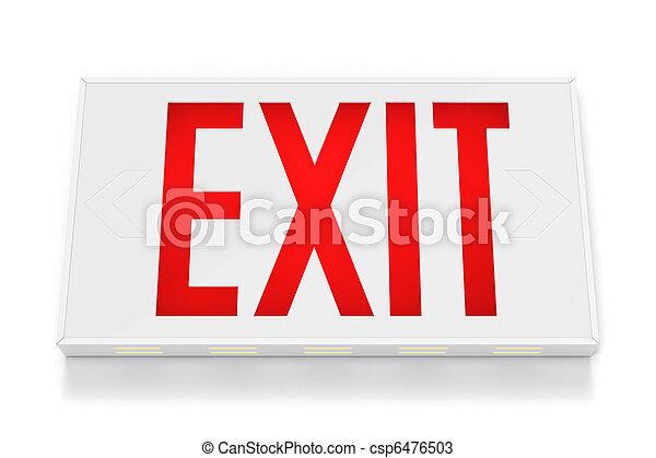 Emergency Exit Sign - csp6476503