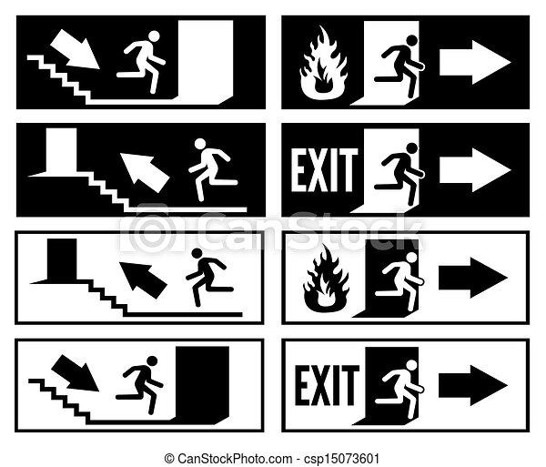 Emergency exit sign  - csp15073601