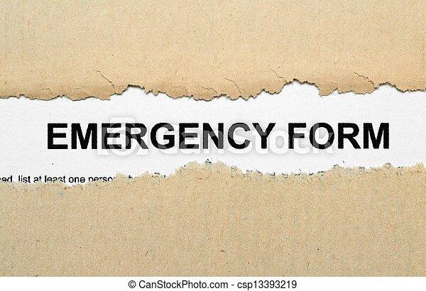 Emergency form - csp13393219