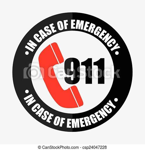 emergency icon - csp24047228