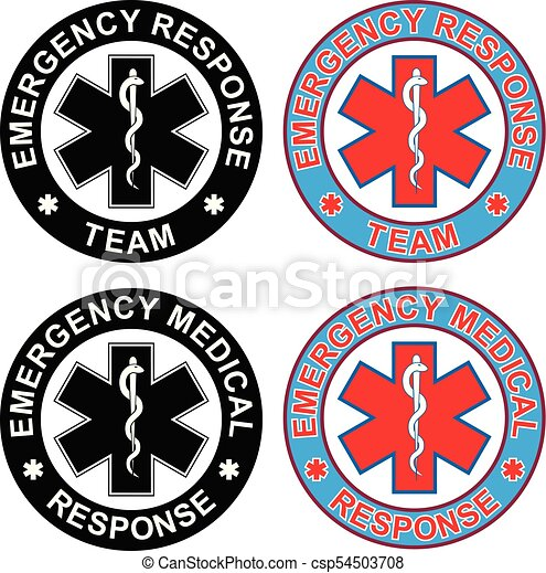Emergency Medical Response Team Is An Illustration Of Emblem And Each Rescue Symbol Comes