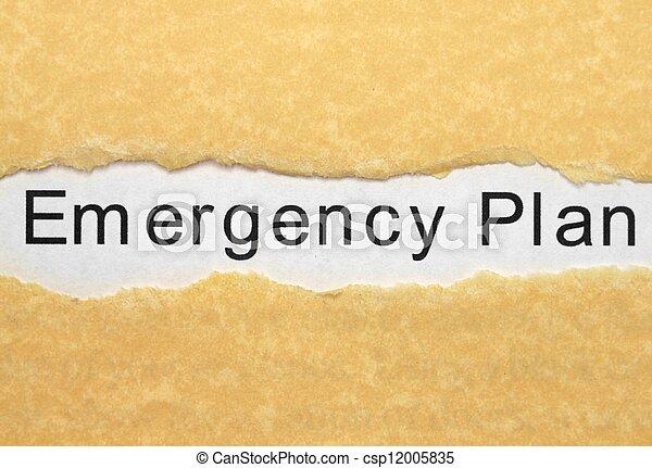 Emergency plan - csp12005835