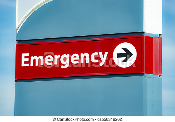 Emergency Room Sign - csp58319262