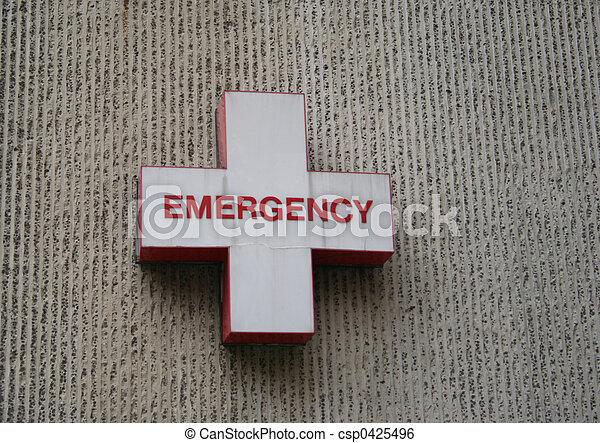 Emergency room symbol - csp0425496