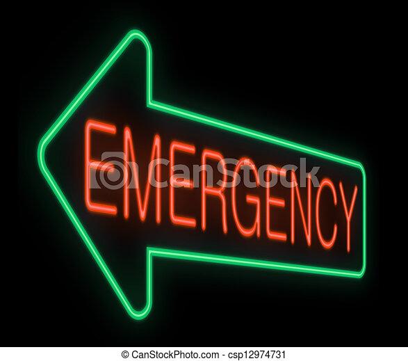 Emergency sign. - csp12974731