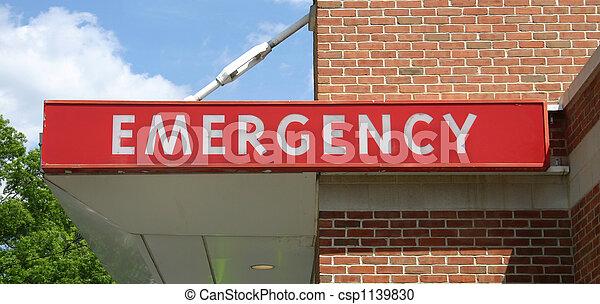 Emergency Sign - csp1139830